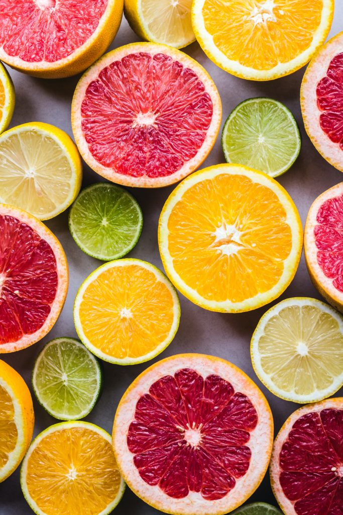 various citrus fruits