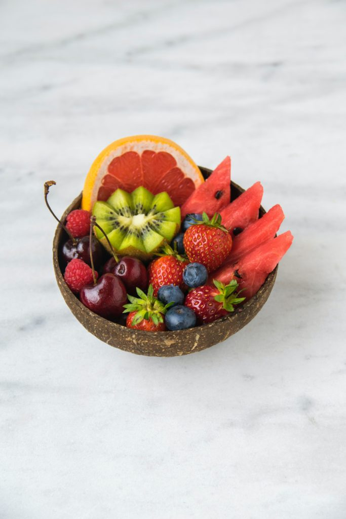 bowl filled with organic food