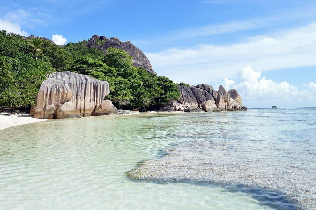 Anse Source d'argent beach one of the most beautiful beaches of the world