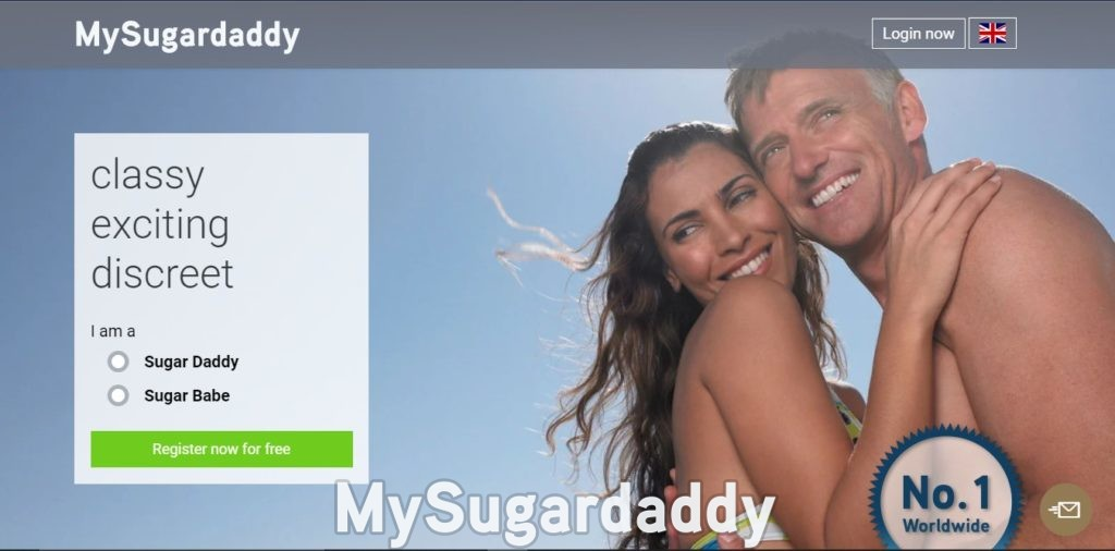 screenshot from the main page of the biggest sugar daddy dating website in the uk