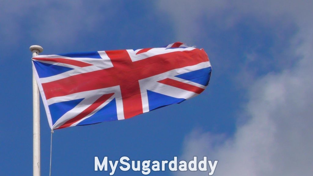 uk flag representing all sugar daddies in the uk