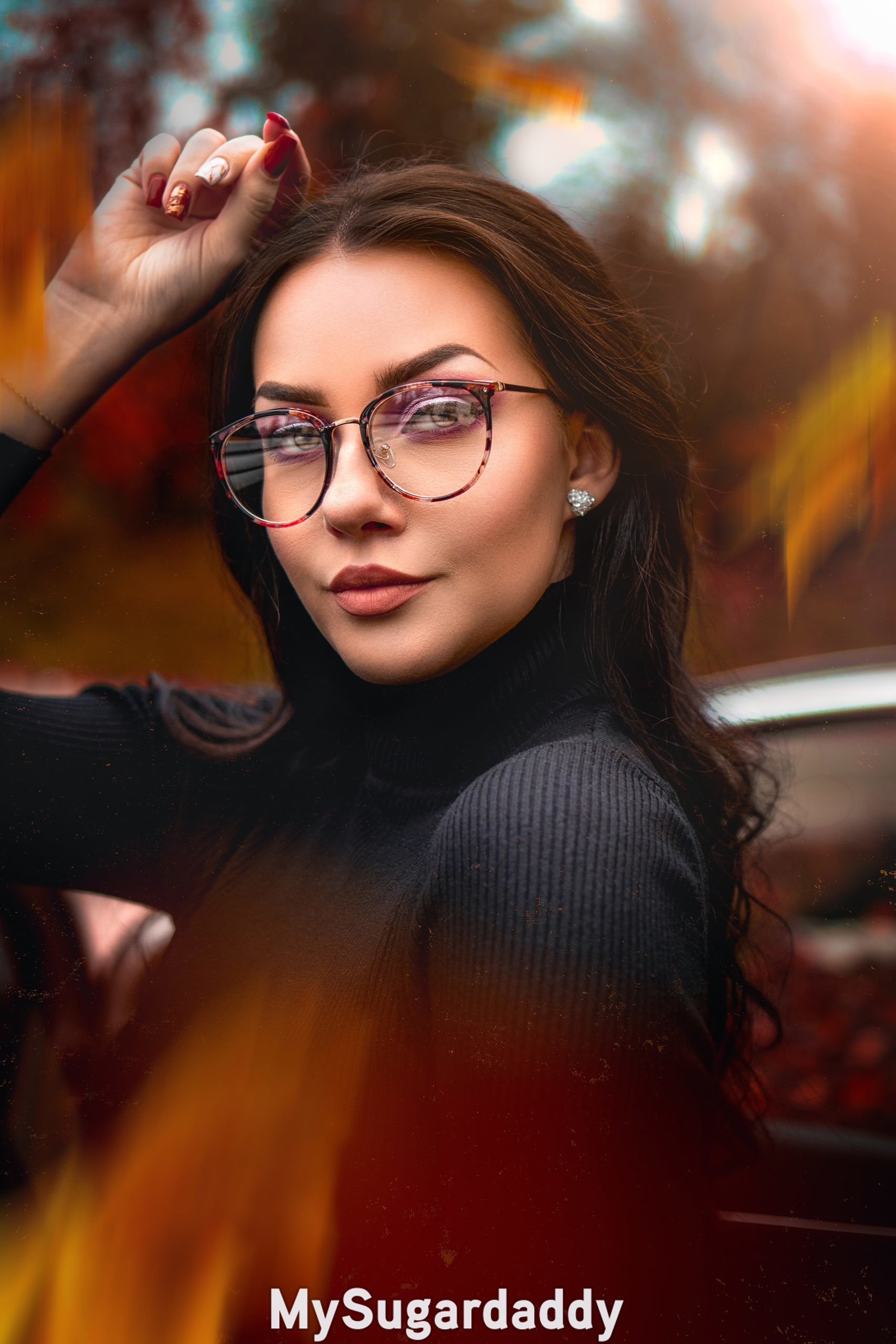 sexy but not vulgar is the way this woman looks with glasses